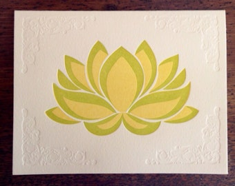 Lotus letterpress note card