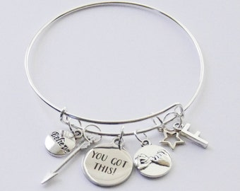 You Got This Bracelet, You Got This Bangle, Charm Bangle, Grad Gift, Gifts for Her, Inspirational Gift, Believe Jewelry, Charm Bracelet