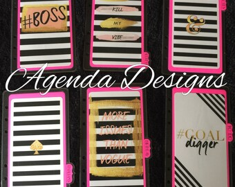 Hot Pink & Black Divider Set