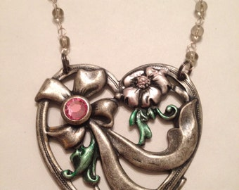 Huge Vintage Heart Necklace