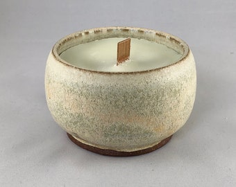 handmade ceramic candle