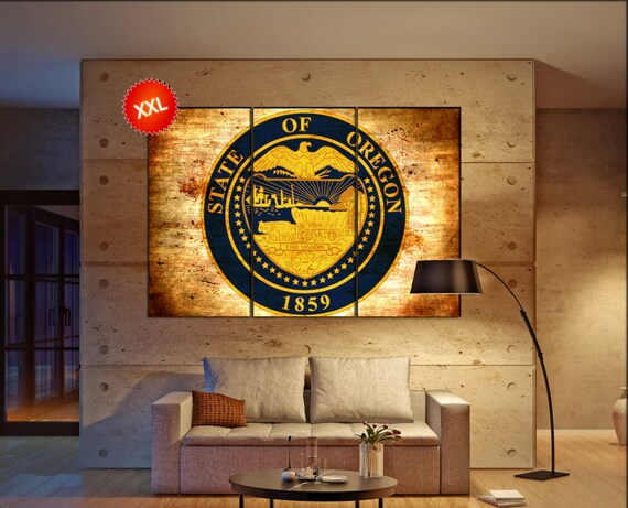 oregon seal flag  canvas oregon seal flag wall decoration oregon seal flag canvas art oregon seal flag large canvas