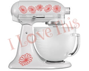 Pyrex Pink Daisy vinyl decals - Perfect for your mixer