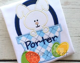 Machine Embroidery Design Applique Easter Basket Bunny 2 INSTANT DOWNLOAD