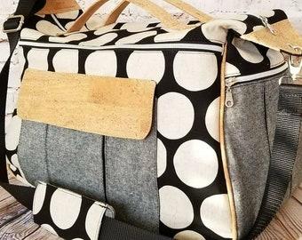 Large Travel Duffel | Carry-On | Overnight | Cork, Cotton, Linen