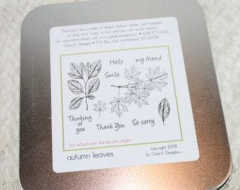 DESTASH - Gina K Stamp utilisés ensemble - les feuilles d'automne