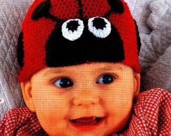 Ladybug Baby Beanie