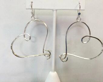 Sterling Silver Wild Heart Earrings