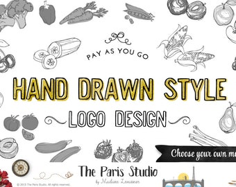 custom logo design hand drawn style logo design boutique logo business logo vintage logo design website logo blog logo branding etsy shop