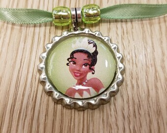 10 Princess Tiana Necklaces Party Favors.