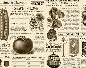 Seed Catalog in Cream and Brown from Sewing Seeds by J. Wecker Frisch