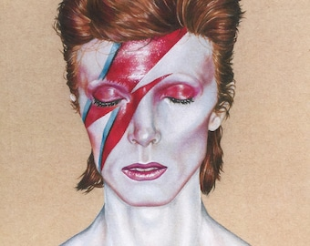 David Bowie Illustration - Print