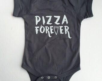 Pizza Forever Baby Bodysuit