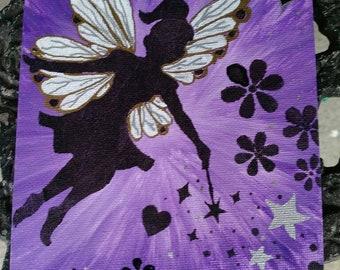 Purple fairy painting