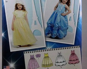 Simplicity 1041, Child's Special Occasion Dress and Bolero Pattern, Project Runway Sewing Pattern, Size 3, 4, 5, 6, New and Uncut