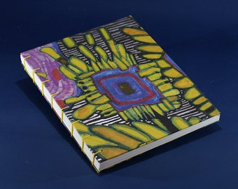 Coptic binding recycled paper notebook