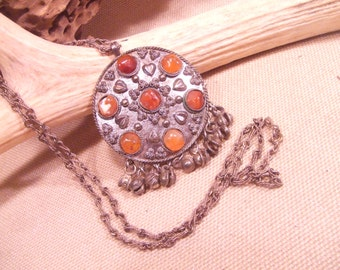 Tribal Silver  necklace  --  ethnic jewelry -- ( FREE SHIPPING SALE)