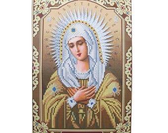 Virgin Religion Pattern Diamond Cross Stitch DIY Kit Rhinestone Mosaic Canvas Painting Home Wall Decor 30 x 40cm