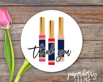 Lip Stickers / Thank You Lip Stickers / Modern Calligraphy / Thank You Labels / Packaging Stickers / Lipgloss, Makeup / Independent Sales