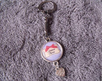 "LIQUIDATION keychain silver ""maman chérie"""