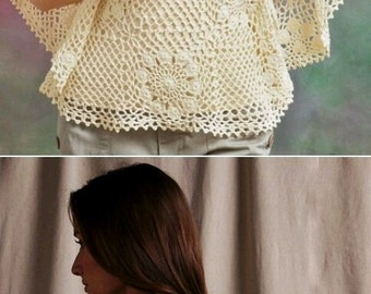 Crocheted Flowers Blouse -MADE to ORDER