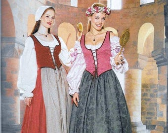 2 patterns Butterick 6196 and B4669 bodices and skirts free ship sewing pattern size 12, 14, 16