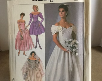 Simplicity Pattern #8413 ©1987 Uncut Misses Brides and Bridesmaids Dresses Size 16