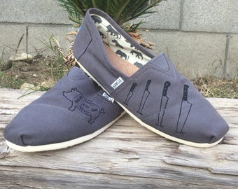 Custom chef inspired design on Toms shoes.