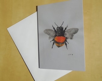 BumbleBee Greeting Card/insect/birthday/gift