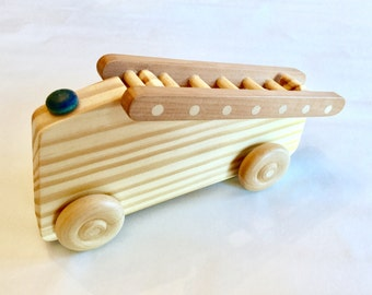 Custom wood toy Fire Engine (with detachable ladder)