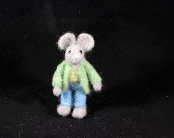 Mr. Mouse Needle Felted