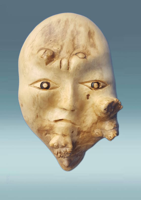 Hand carved mask wooden mask wood mask mask african mask