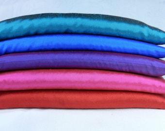 Silk Eye Pillow, 8 inches or 10 inches long - Yoga Eye Pillow, Lavender Eye Pillow or Unscented Eye Pillow