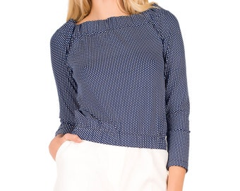 Ladies blouse with cut back