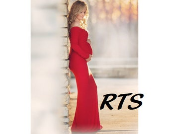 Ready to Ship Maternity Dress-Maternity Gown-Long Maternity Dress-Fitted Maternity Gown-Maternity Dress-Baby Shower Dress-SERAPHINA-RTS