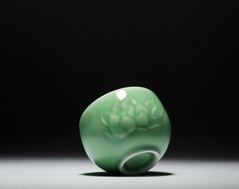 China Longquan celadon handmade tea cup