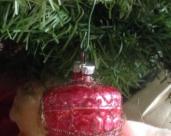 Victorian Red Basket Ornament