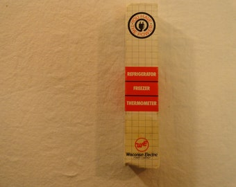 Wisconsin Electric Power Company Refrigerator Freezer Thermometer in Original Box