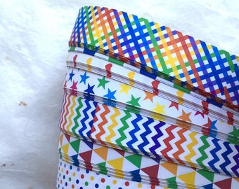Clearance* Rainbow Patterns~ Weaving Star Paper (52 strips)