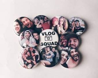 Vlog Squad Inspired Pinback Buttons