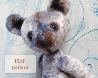 PATTERN for artist bear teddy bear, 10-11 inches