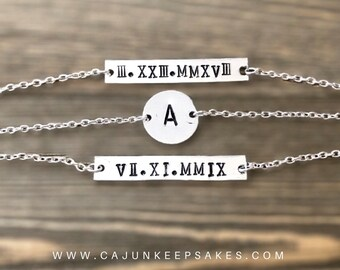 Stackable Bracelets   Custom   Personalized Handstamped Jewelry