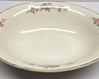 Edwin M Knowles Semi Vitreous Oval Vegetable Bowl