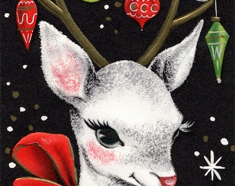 Christmas Deer Cross Stitch Pattern PDF