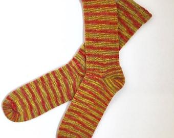 Handmade Wool Socks 453 -- Men's Size 11-13