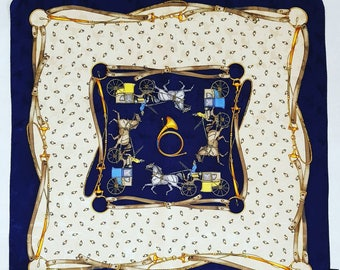 """Vintage scarf """"The carriages"""""""