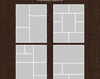 16x20 Photo Storyboard Templates - Photo Collage Template - PSD Template - Resize to 8x10 - For Photographers - Instant Download - S207
