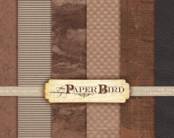 """Recycled Paper : 6 backgrounds 