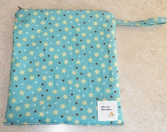 Medium Wetbag- Blue Stars- 3006
