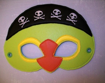 Child's Mask - Pirate Parrot - Skully